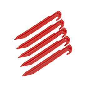 CAMPZ Śledzie z tworzywa sztucznego Akcesoria do namiotu 23cm czerwony